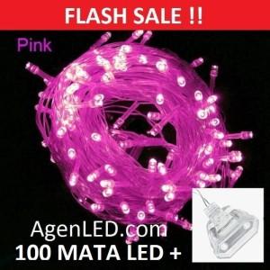 Lampu Tumblr Natal LED String Twinkle Light Dekorasi hias lurus PINK