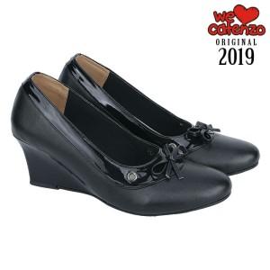 Sepatu Kerja / Formal / Kantor / Pantofel Wedges Wanita Hitam - CT245
