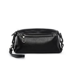Clutch Handbag Tas Pria KULIT Black HTI0766