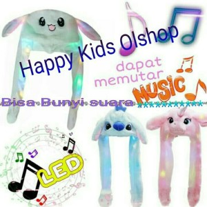 Topi Kelinci LUCU IMPORT/ RABBIT HAT DANCE/ Magic Rabbit Bunny ear hat