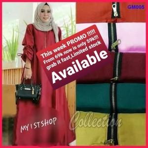 Baju gamis polos muslim big, tunik - dress - gaun jumbo