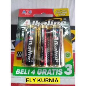 BATERAI ABC ALKALINE AA isi 7 / ABC ALKALINE AA isi 4+3