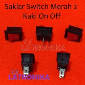 Saklar Switch Mini Merah 2 Pin KC 6A88 On Off