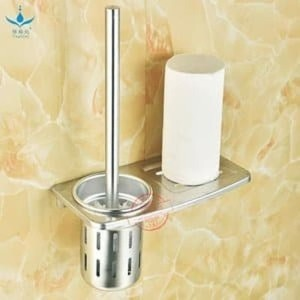 Rak Toilet Aluminium Bonus Sikat Bathroom Kamar Mandi Rack Sabun Botol