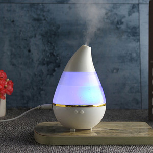 Water Drop Ultrasonic Humidifier Diffuser 7 Color LED Lights Auto Off