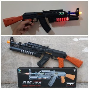 Mainan Tembakan Senapan LED dan Bersuara / Mainan Edukasi Anak Laki