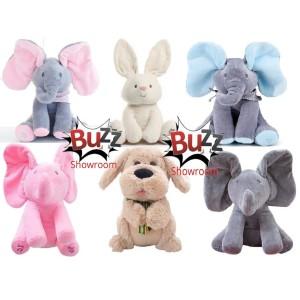 Boneka gajah peek a boo, elephant peek ka boo, cilukba,