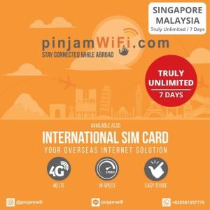 Sim Card Singapore Malaysia Truly Unlimited 7 Days | Simcard Singapura