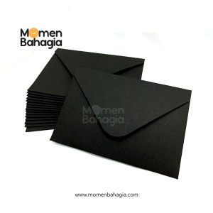 Amplop Baronial Hitam Rounded A6 11x16cm Premium