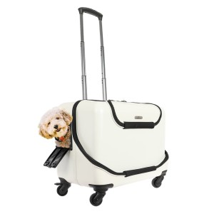 Tas Anjing, Kucing, Hewan GEX OSOTO Roller Pet Luggage 20 inch - White