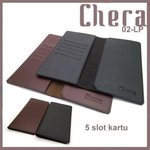 Chera Dompet Kulit Smartphone with 5 Slot Kartu Hitam