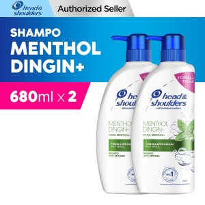 Head and Shoulder Shampoo Cool Menthol 680 ml Paket isi 2