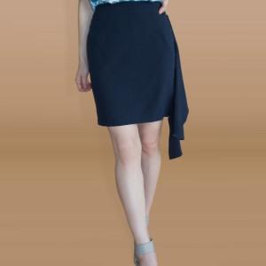 Kakuu Basic - Side Frill Mini Skirt