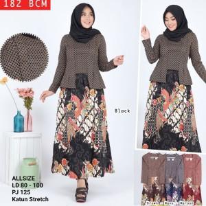 GAMIS batik modern / gamis katun Stretch