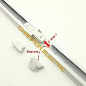 Penyambung Rel Lampu / Sambungan Track Spot Light Lurus