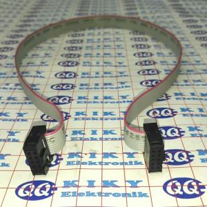 kabel idc jadi 10p 50cm / flat cable 10 pin with idc socket