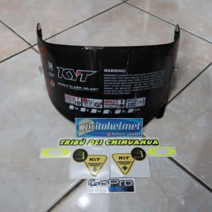Visor Flat Dark Kyt Rc7 R10 K2rider Original Free Sticker