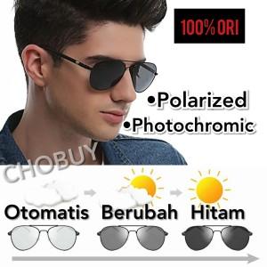 Original Kacamata Photochromic Polarized Sunglass Anti UV Siang Malam