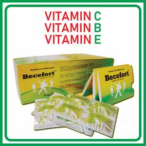 BECEFORT suplememt vitamin c 500mg 1 Box ( 100 Tablet )