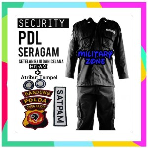 R GROSIR SERAGAM PDL SECURITY HITAM LAPANGAN PDH TACTICAL ATRIBUT TEMP