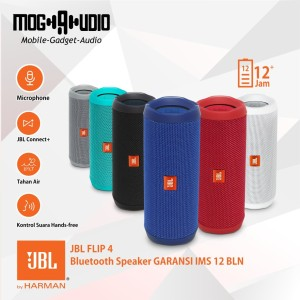 JBL FLIP 4 Bluetooth Speaker GARANSI IMS 12 BLN