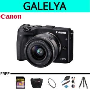 kamera canon eos m3 kit 15-45 stm paketan lengkap