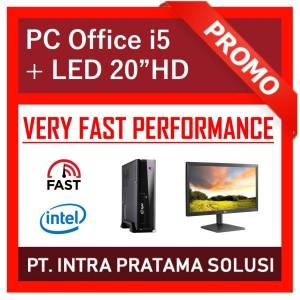 """PC Rakitan Core i5 Lengkap (Siap Pakai, untuk Office / Admin) - 20"""""""