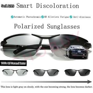 Kacamata Anti Silau UV Siang Malam Photochromic Polarized Sunglasses