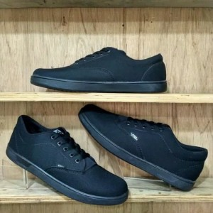 Sepatu Vans Era Authentic Hitam Polos Sepatu Sekolah Sepatu Kerja