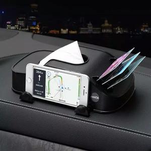 Tempat Tisu mobil/tissue Mobil 3 in 1 Holder HP Kartu Card Holder