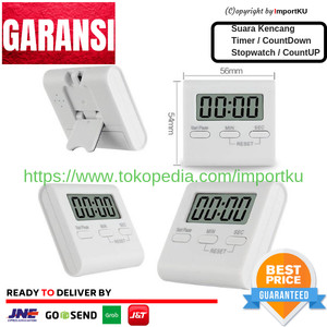 Digital Timer Kitchen Magnetic LCD - Pengatur waktu masak