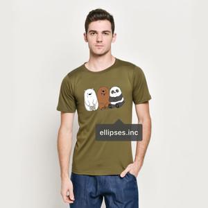 Tumblr Tee / T-Shirt / Kaos Pria Lengan Pendek We Bare Bears Army