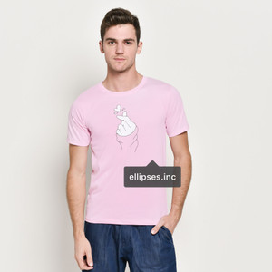 Tumblr Tee / T-Shirt / Kaos Pria Lengan Pendek Sarang Warna Pink