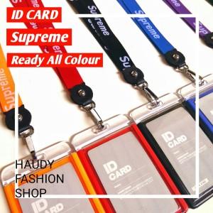 NAME TAG KULIT PU / ID CARD HOLDER SUPREME / GANTUNGAN NAMA