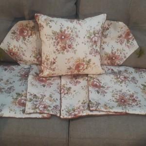 sarung bantal sofa 40x40 sama taplak meja