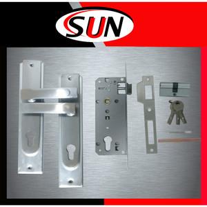 Handle set Kunci Pintu Rumah Plat Putih Stainless Ukuran Besar