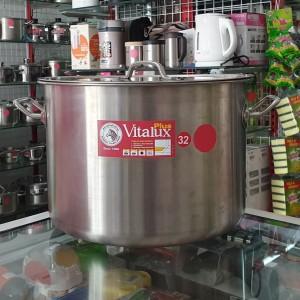 Stock Pot Zebra Vitalux D32cmxH23cm, SUS 304, made in Thailand