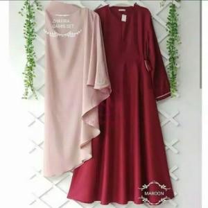 Pakaian Baju Busana Muslim Wanita Satu Set Gamis Syari ZHAFIRA Termura