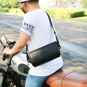 tas pria hush puppies FUEL black premium tas cowok tas murah import