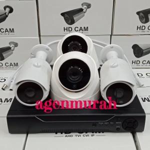 Paket CCTV AHD 4CH full HD 4MP Komplit