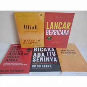Paket 5 Buku - Bodo Amat, Blink, Bicara Ada Seninya, Minimalis, Lancar