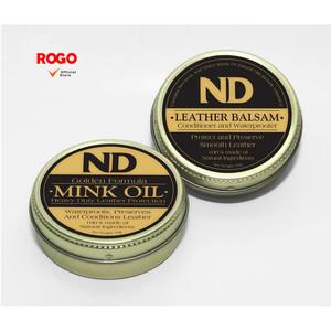 Paket ND Leather Balsam & ND Golden Mink Oil Free Spons