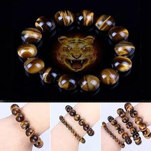 Gelang Batu Natural Stone Tiger Eye Elastis Original Biduri Sepah Eyes
