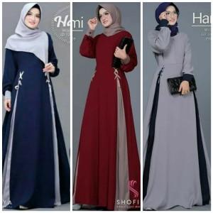 Pakaian Busana Muslim Baju Gamis Wanita Terbaru Dress Murah