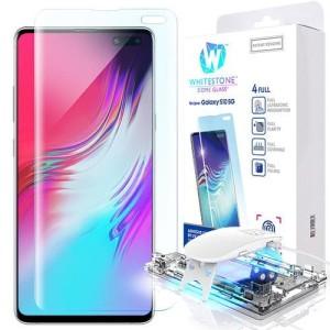 Whitestone dome glass full glue uv tempered glass for Samsung S10 5G