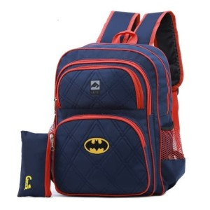 G 6FKT292 Tas Sekolah SD SMP Tas Ransel Anak Laki-laki Keren Batman