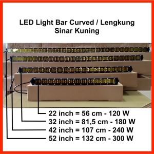 "LED Light Bar Slim 42"" 240W Curved / Lengkung Sinar Kuning"