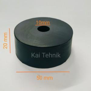Rubber Mounting / Dudukan karet / Bantalan karet 50 mm x 10 mm x 20 mm