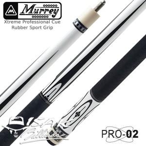 Murrey PRO-2 - Maple Pool Billiard Cue Stick - Stik Biliar - Putih