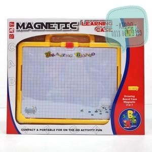 Mainan edukasi papan tulis dan magnet huruf angka